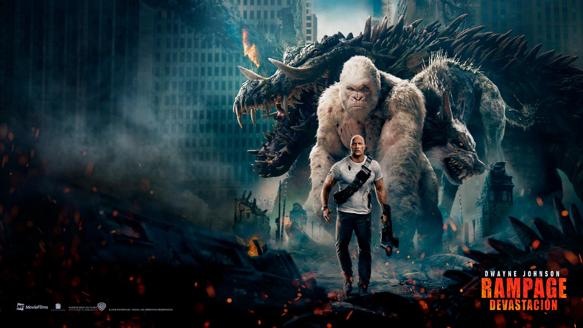 Rampage Movie Hd Wallpapers Download 1080p: Rampage Devastación